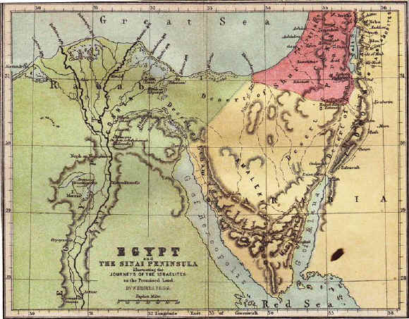 Bible maps: Ancient Egypt and the Sinai Peninsula
