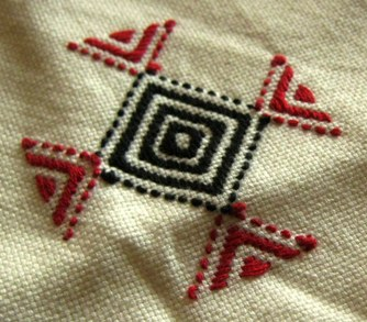 Homewoven fabric and tribal-specific embroidery were common in 1st century Palestine