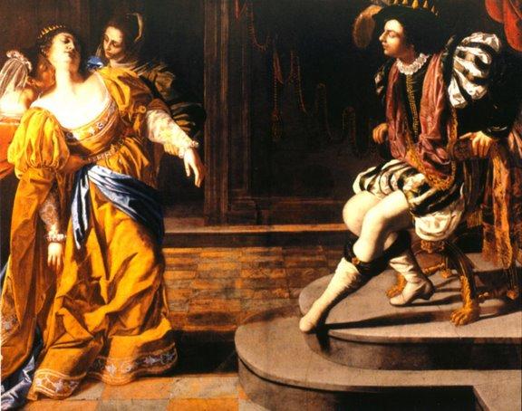 Esther Paintings - Title: 'Esther Before Ahasuerus', Artemisia Gentileschi, 1628-35