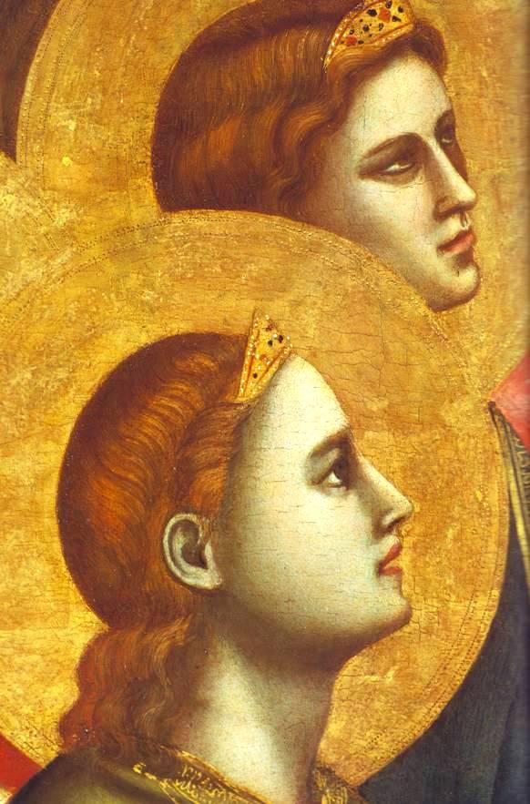 Angel paintings: Angels venerating the Madonna, Giotto