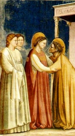 Mary visits her cousin Elizabeth, Giotto, Padua