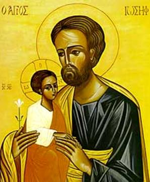 Icon of Joseph and the child Jesus