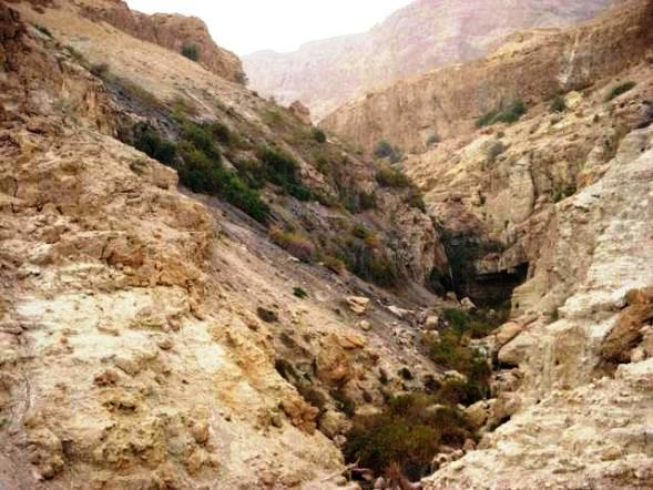 Abigail, David in the Bible: Caves in the Judean wilderness