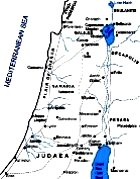 Maps of Galilee, Jerusalem, Samaria and Judaea at the time of Jesus