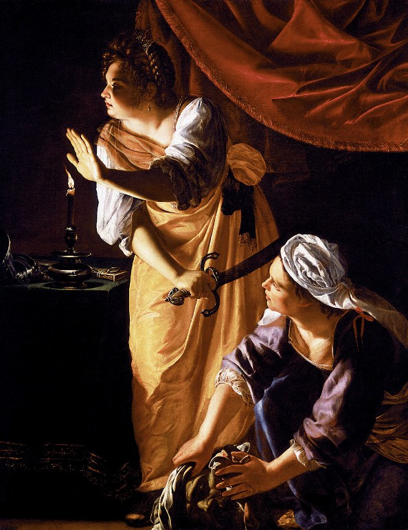 Bible Paintings: Judith and her Maidservant with the Head of Holofernes, Artemisia Gentileschi: Bible Art, Judith