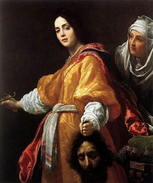 BIBLE PAINTINGS. JUDITH Cristofano Allori 1613, Judith with the head of Holofernes