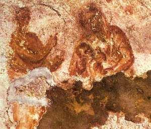 Madonna and child, catacomb of St Priscilla, Rome
