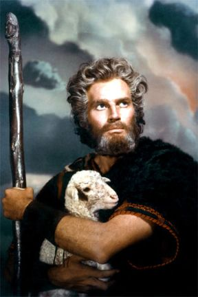 'The Ten Commandments', with Charlton Heston as Moses