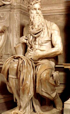 Moses with the Stone Tablets, Michelangelo