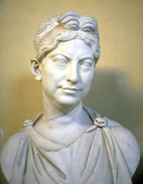 Marble bust of a Roman matron