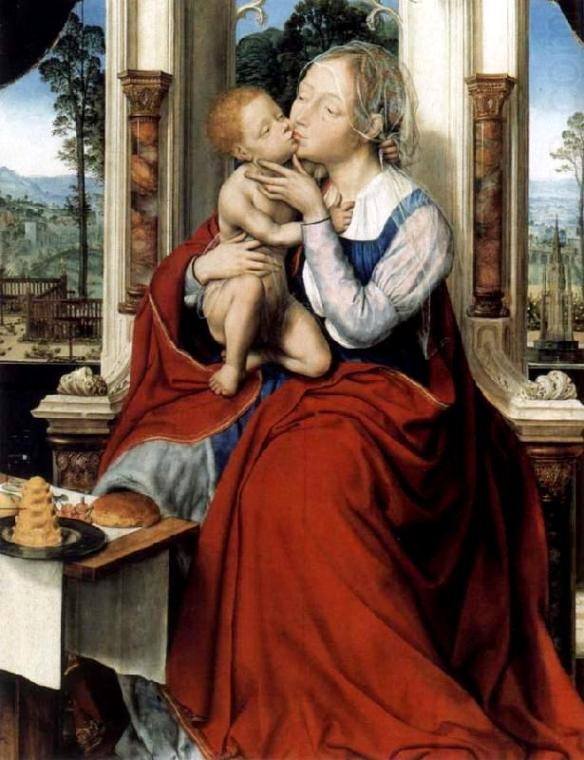 Madonna: Virgin and child enthroned, Quentin Massys