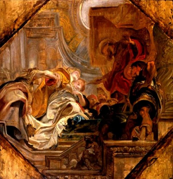 Esther Painting : 'Esther before Ahasuerus', Peter Paul Rubens, 1620