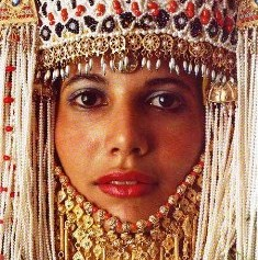 Bible study activities: Middle Eastern woman with ornamental headdress