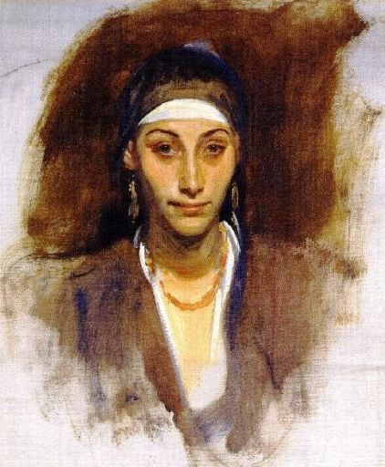 Abigail, David in the Bible: John Singer Sargant's Egyptian Woman with Earrings