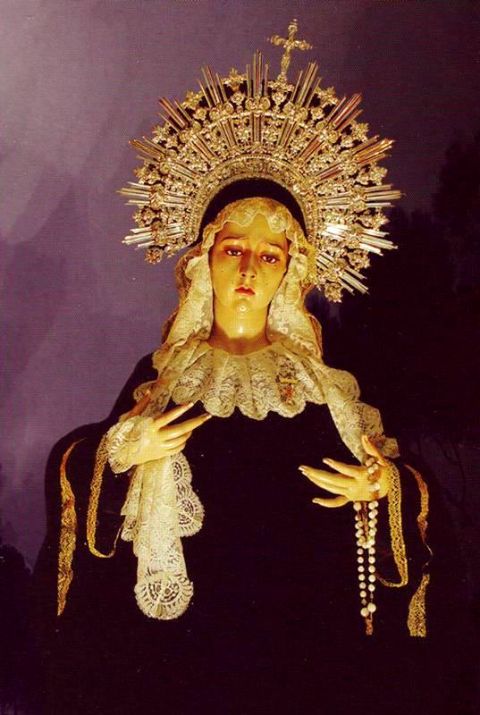 Spanish Madonna, wood carving