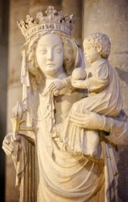 Madonna: Statue of Mary in Notre Dame Cathedral, Paris