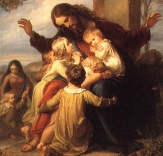 Jesus with children. Da Vinci code