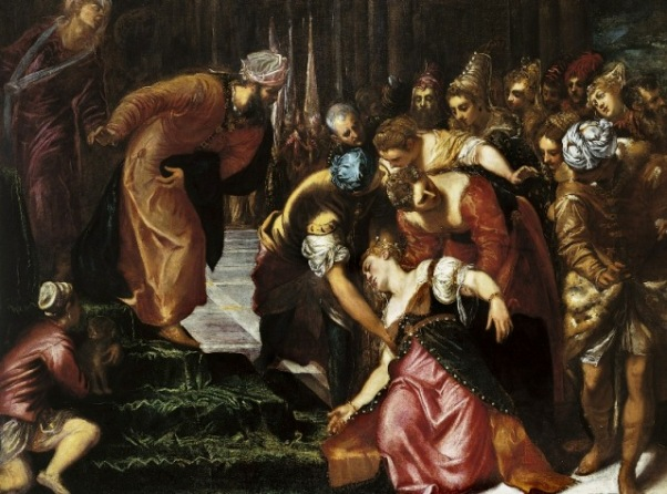 'Esther before Ahasuerus', Tintoretto, 1546-7