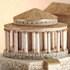 Model of pleasure pavilion at King Herod's Masada
