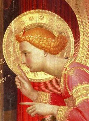 Angel at the Annunciation - Gabriel. Fra Angelico.
