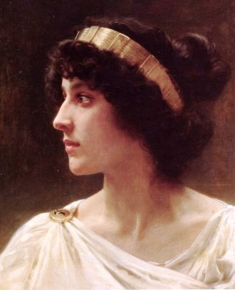 Beautiful young woman in ancient times, Irene Bouruereau