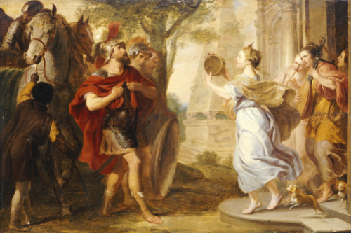 Jephtah Greeted by his Daughter, Erasmus Quellinus