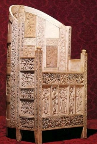 Bathsheba & David. A throne covered with ivory plaques