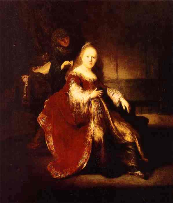 Esther Painting - 'Esther Preparing to Intercede with Assuerus', Rembrandt, 1633