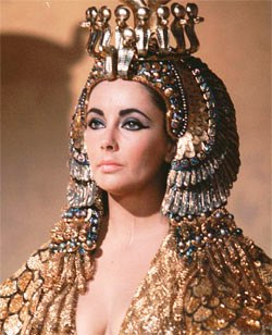 JEZEBEL: This image from the film 'Cleopatra' shows Elizabeth Taylor in the headdress and make-up of an Eastern queen. Jezebel's regalia would have been similar, but more modest.