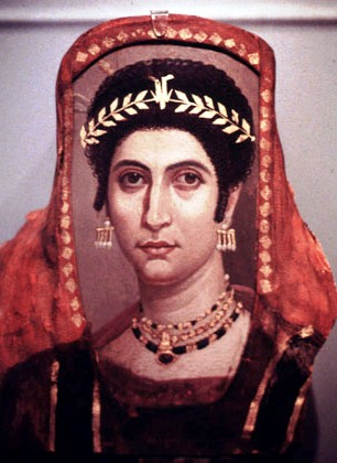 Bible queen Athaliah, Fayum coffin portrait