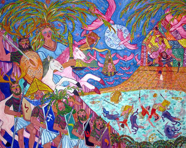 DEBORAH: Painting of 'Deborah: Words, Women and War' by Nathan Moscowitz, 2007