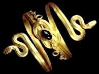 Jezebel: gold snake bracelet