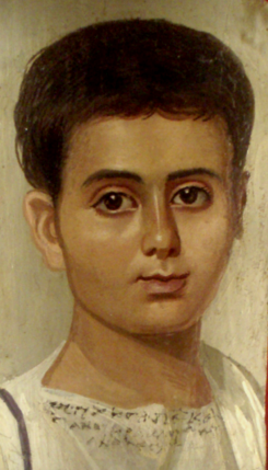 Bible Women: Athalia, Fayum coffin portrait of a young boy