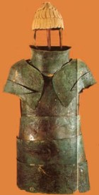 Ancient armor of a warrior