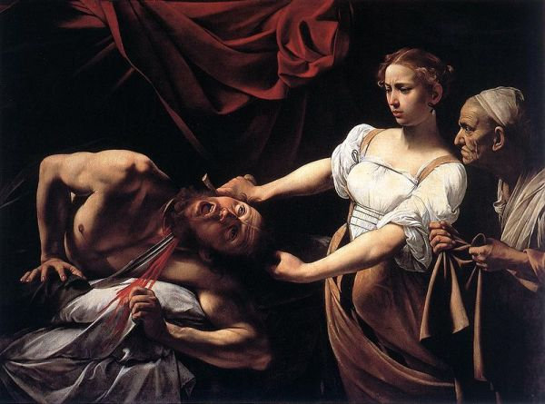 Bible Paintings: Caravaggio, Judith Beheading Holofernes