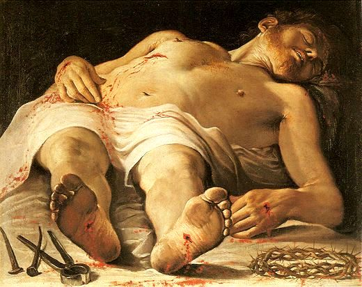 Bible Heroines, Joanna. Annibale Carracci The Dead Christ 1584