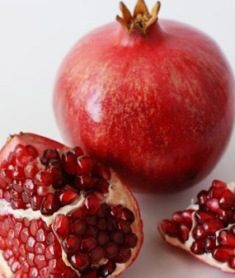 A pomegranate, ancient symbol of fertility in Nature