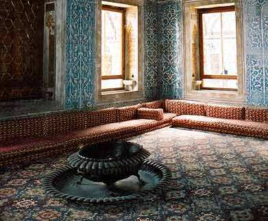 Harem rooms in Topkapi Palace, Turkey