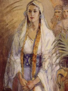 Esther, by Minerva Teichert
