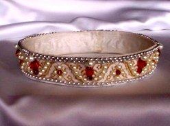 Pearl and ruby circlet, antique
