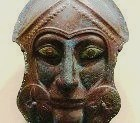 Metal image of an ancient soldier