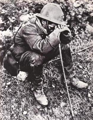 Bible Warriors, soldiers: Jephtah. Dispirited French soldier, World War I