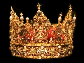 Bible heroines, Esther. Golden crown with jewels