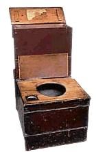 Bible Murders: Ehud murders Eglon. A 19th century commode - but ancient lavatory arrangements were probably similar