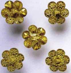 Golden rosettes from the 7th century BC