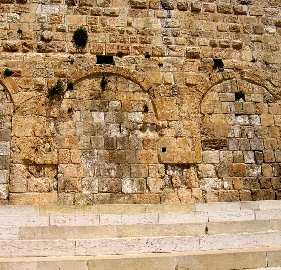 Huldah's Gate in present-day Jerusalem