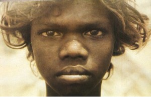 WOMEN IN THE BIBLE:EVE, first woman: photograph of a young Aboriginal woman