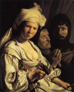 Jael, Deborah and Barak, Salomon de Bray
