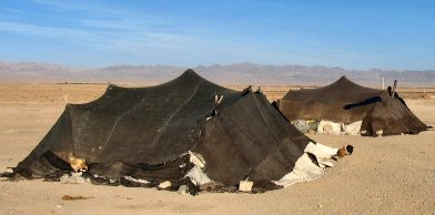 Bible Murders: Jael and Sisera. Tents belonging to nomads in the Middle East