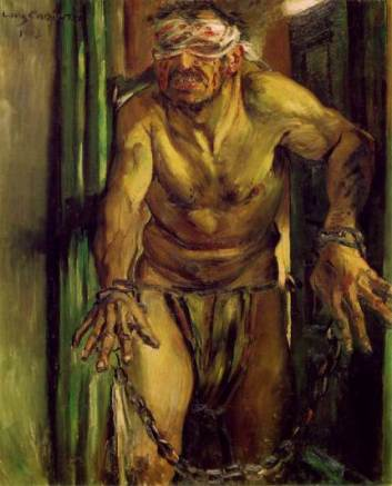 Samson blinded, Lovis Corinth, 1912, State Museum Berlin